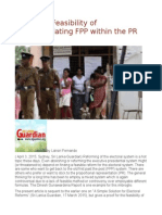 A Proof of Feasibility of Accommodating FPP Within the PR System