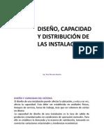 Diseño, Capacidad, Distribución