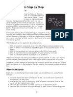 Pareto Analysis Step by Step