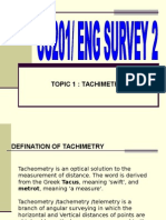 Topic 1 Tachimetry - CC201 N