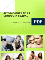 Alteraciones de La Conducta Sexual