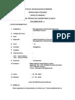 1 Syllabus Bioseguridad e Instrumentacion en Lab Oratorio Primera Parte