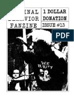 Criminal Behavior Fanzine, Issue 13