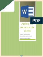 Aplico los recursos de Word