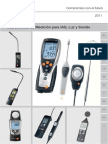 Manual Testo 435 Instrumento de Medicion Multifuncion