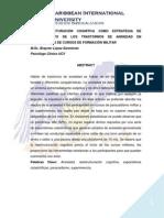 La Reestructuración Cognitiva Como Estrategia de Afrontamiento de Los Trastornos de Ansiedad en Participantes de Cursos de Formación Militar