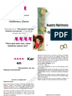 Celebracion de Matrimonio de Guillermo y Karen