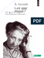 Arendt Hannah - Qu'est-ce que la politique.pdf