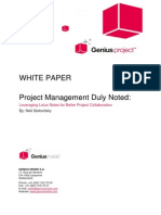 Project Management Leveraging Lotus Notes for Better Collaboration Whitepaper1