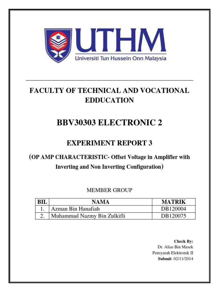 Laporan 4 Op Amp Pdf Operational Amplifier Amplifier