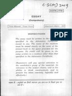 2009 Essay upsc