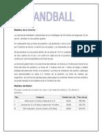 Medidas de La Cancha Handball