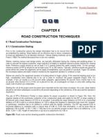 Chapter 6 Road Construction Techniques