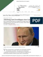 Angebliches Strategie-Papier Des Kreml Aufgetaucht