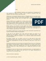 Carta d'Agraïment a La No-germana
