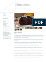 Rulada Cu Ciocolata Si Visine Din Dulceata