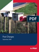 Australia Post Charges September 2008