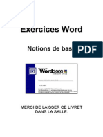 Word 2000 - Livret d'Exercices