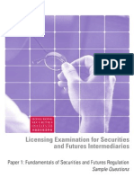 Paper 1 - Fundamentals of Securities and Futures Regulation