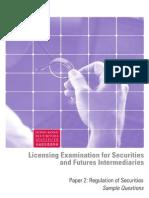 Paper 2 - Regulation of Securities
