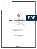 MSc in Clinical Epidemiology Course Outline 2015