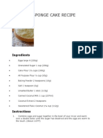 Coconut Sponge Cake Recipe