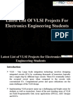 Latest List of VLSI Projects for Electronics Engineering Students