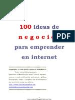 100 Ideas de Negocios Para Emprender en Internet