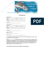 Walleye League Application 2015