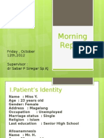 Morning Report 11 October 2012