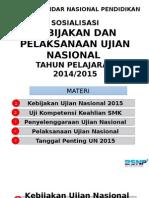 Sosialisasi Ujian Nasional Tahun 2015