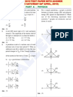 JEE Main 2015 Solutions Physics