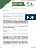 Drug Excretion_ Pharmacokinetics_ Merck Manual Professional