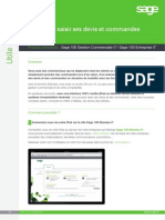Saisir Devis Commandes iPad