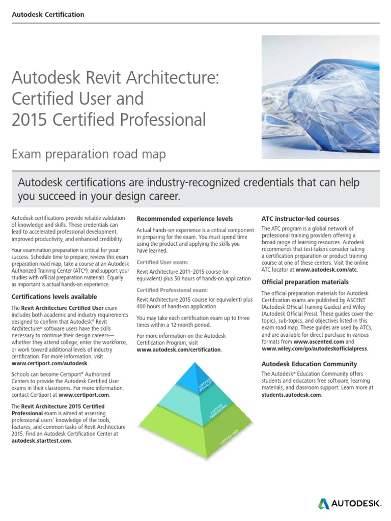 Cert Autodeskrevitarchitecture2015 Autodesk Revit Professional
