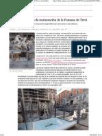 Arrancan Las Obras de Restauración de La Fontana de Trevi _ Actualidad _ EL PAÍS