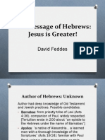 02 the Message of Hebrews-Jesus is Greater