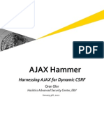 AJAX Hammer - Harnessing AJAX for (Direct) Dynamic CSRF