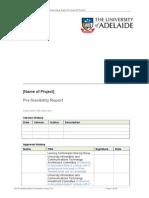 Prefeasibility Report Template