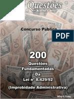 200 Questoes de Improbidade Administrativa