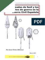 Granadas de Fusil usadas en la Guerra Civil Española