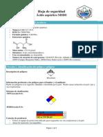 Ficha de Seguridad Ácido Aspartico