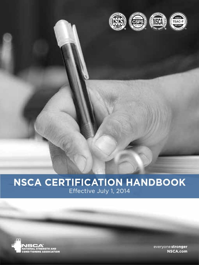 Cscs Exam Candidate Handbook Personal Trainer Identity Document