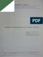 Recuento Historiografico de La Musica Colonial