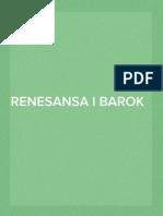 Renesansa i Barok u Hrvatskoj
