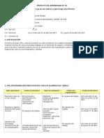 Proyecto de Aprendizaje - Abril 2015 - 6° grado (con Rutas del Aprendizaje 2015)