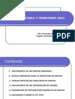 Cierre Contable y Tributario 2013