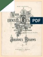 Johannes Brahms - vier erste Gesänge