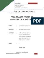 Informe de Laboratorio AlbaÑILERIA