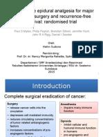 Perioperative Epidural Analgesia for Major Abdominal Surgery And